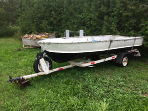 14' Aluminum Fishing Boat with Trailer