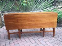 Vintage teak single leaf gate leg table,