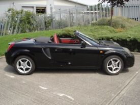 Toyota MR2 Mk 3 1.8 VVTI Convertible. Black 2000.