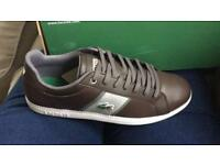 Brown Lacoste trainers