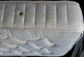 thick single spring mattress, 24cm thick, good quality. 190 x 90cm.