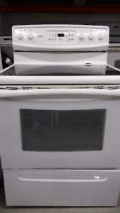2 White Glass Top Kenmore Stoves