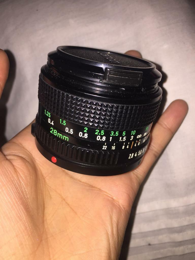 Canon FD 28mm 2.8 (manual lens)