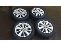 VW Genuine Seat Audi Skoda 16inch Alloy Wheels and Tyres