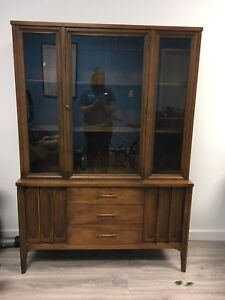 SOLD- PPU Solid Wood China Cabinet - excellent condition