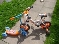 "Avigo Robot racer 10"" bike & Disney planes scooter Both in great condition"