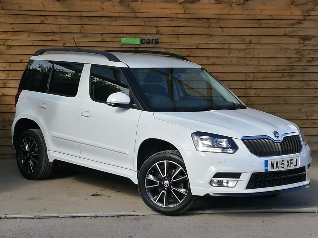 skoda yeti 2 0 tdi cr 140 black edition 4x4 5dr sat nav dab bluetooth moon white 2015 in. Black Bedroom Furniture Sets. Home Design Ideas