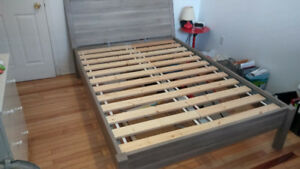 Modern and affordable IKEA double bed frame