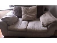1x 2 seater sofa 1x3 seater sofa (cream&Brown with) £150 for both.