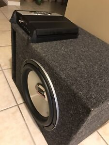 """^** MTX 12"""" SUBWOOFER WITH MATCHING AMP!!"""
