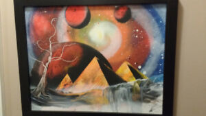 Original Spray Painting with frame - Mint Condition