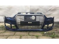 2015 Onwards Audi A3 8V3 E TRON S Line Front Bumper With Grill Genuine