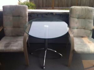 Patio Table with Two Lounge Chairs, Pick up only