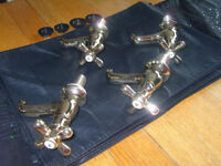 REGENCY GOLD PLATED MATCHING BATH AND BASIN TAPS