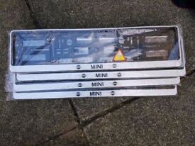2x MINI Number Plate Holders NEW!