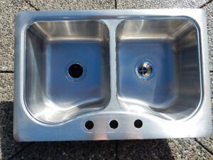 Kohler Double Stainless Steel Sink with Garburetor