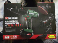Parkside 4-IN-1 Cordless Combination Tool. (Can see working!)