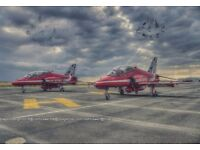 Red arrows signed canvas print Large 32in x 22in