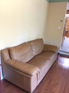 100% italian leather sofa + loveseat