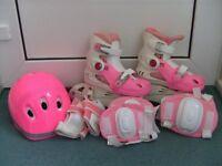 Roller skates (pink) (inline or quad)
