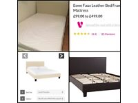 Double bed & mattress 1 month old