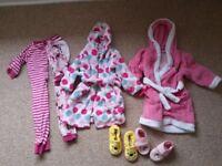 2-3 girls bath and nightwear bundle