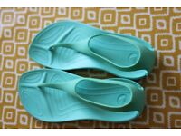 Green Croc Sandals
