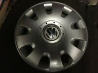 Single Genuine VW 15'' Wheel Trim to fit Golf Bora Beetle Passat Polo Jetta Caddy Lupo etc.