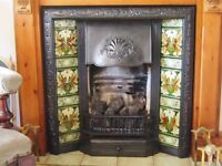 Genuine Victorian fireplace with gas fired basket if needed