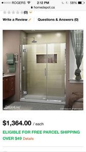 """4'6"""" New Shower Door For Sale"""