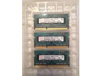 3x Hynix 2gb 1Rx8 pc3. DDR3 laptop Ram /memory