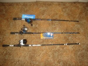 3 SPINCAST FISHING ROD / REEL COMBOS FOR SALE !!