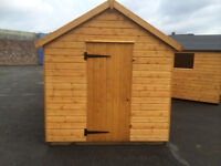 BRAND NEW WOODEN SHED JUST BUILT NEVER USED 8 X 6 APPEX ROOF /WINDOW