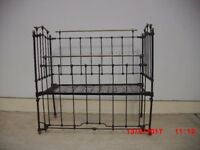 Victorian Cast Iron and Brass Child's Cot