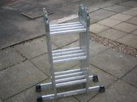 Aluminium Multi Purpose Folding Ladder C/W Platforms