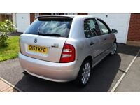 Skoda fabia VRS 12months mot service history cheap on fuel tax alloy cd big boot £925ono