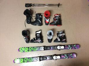 Kids ski snowboard equipment