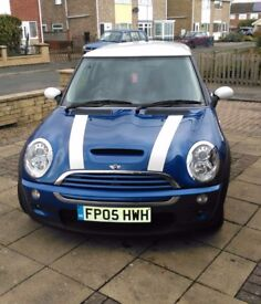 Mini Cooper S 2005 *blue/white*low mileage*