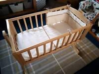 Swing Crib and Bumper Set