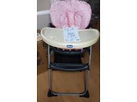 Chicco girls high chair