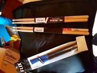Drum sticks and case