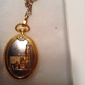 Thomas Kinkade  Watch Necklace