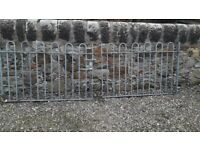Heavy duty galvanised gates