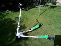 Green Y Flicker Scooter hardly been used RRP £60