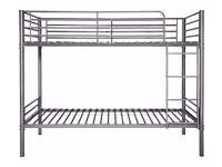 Single Bunk Bed Frames- Silver color