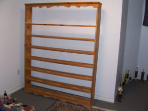 Large Pine Shelving Unit 6 ft tall 57 in wide