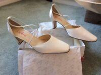 Ivory satin bridal shoes