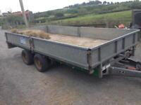 Ivor Williams flat bed trailer 14ft