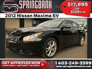 2012 Nissan Maxima SV w/Leather, Sunroof $129B/W INSTANT APPROVA