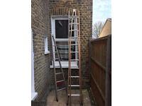 window cleaner wooden A- frame ladder for sale